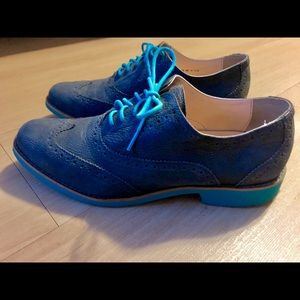 Cole Haan Blue Oxford Shoes